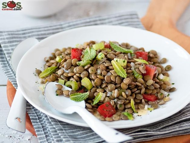 Lentil and Tomato Salad with Mint