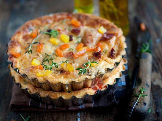 Quiche sans croûte aux poivrons et tomates séchées