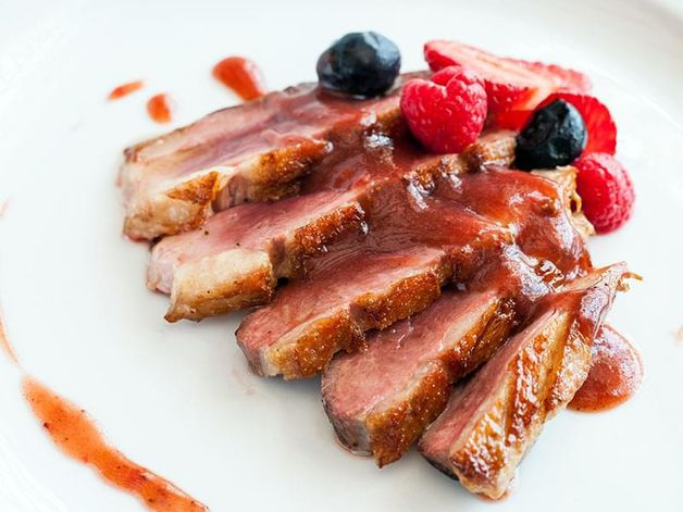 Duck Cutlet in a Raspberry Sauce