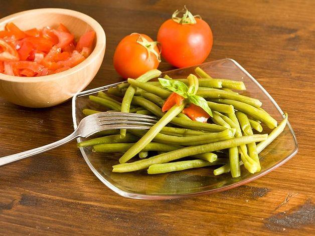 Salade de tomates et haricots verts