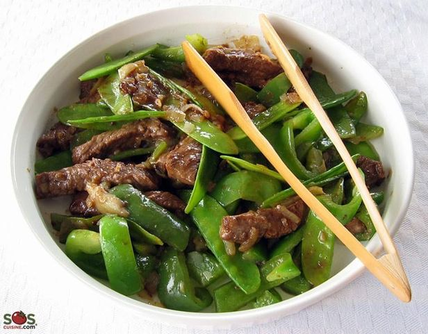 Chinese-Style Beef with Snow Peas