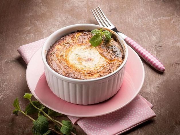 Goat-Cheese Soufflé with Thyme