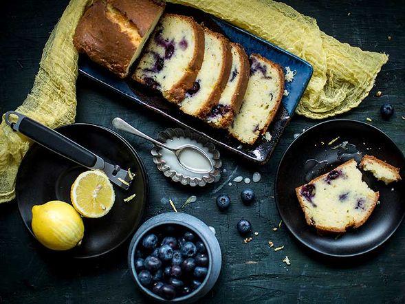 Cake aux bleuets et citron