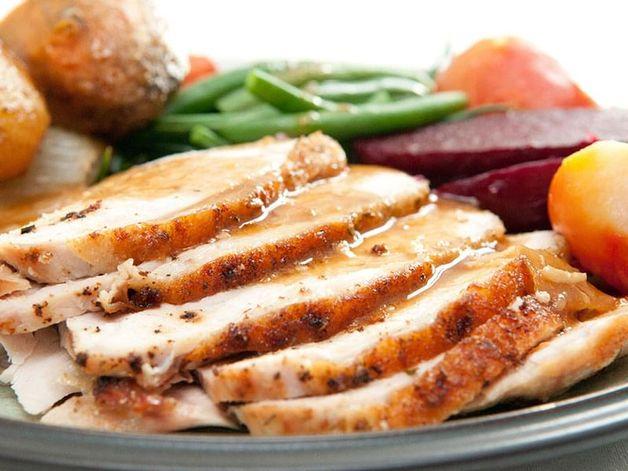 Maple-Glazed Roast Turkey