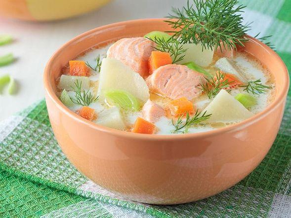 Zuppa di pesce oukha alla russa