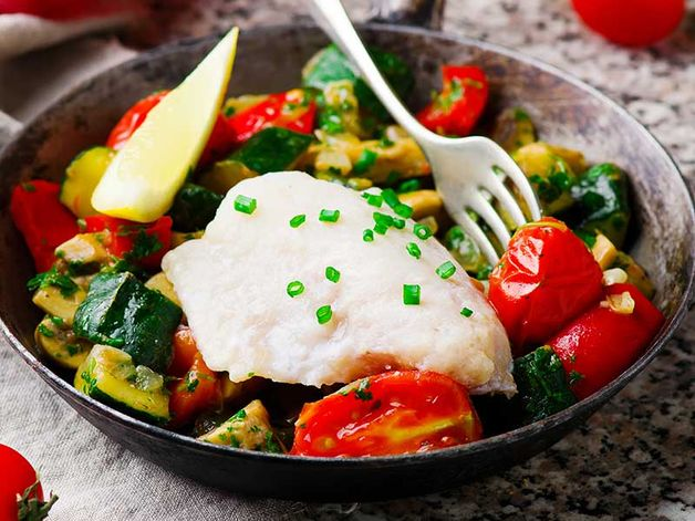 Steamed Sole with Vegetables