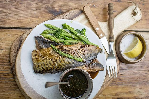 Mackerel fillets simmered in soy sauce