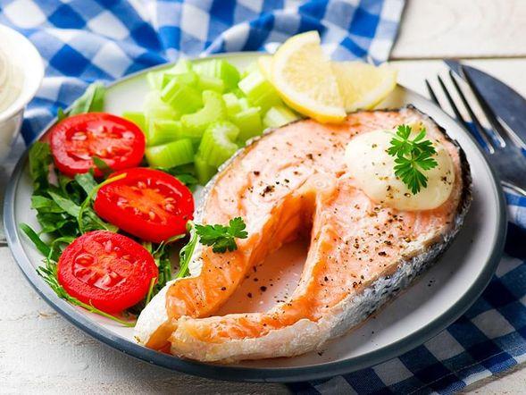 Quick Microwaved Salmon