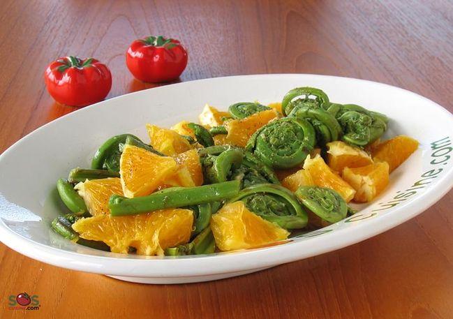 Fiddlehead and Orange Salad