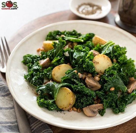 Sunchoke and Kale Sauté