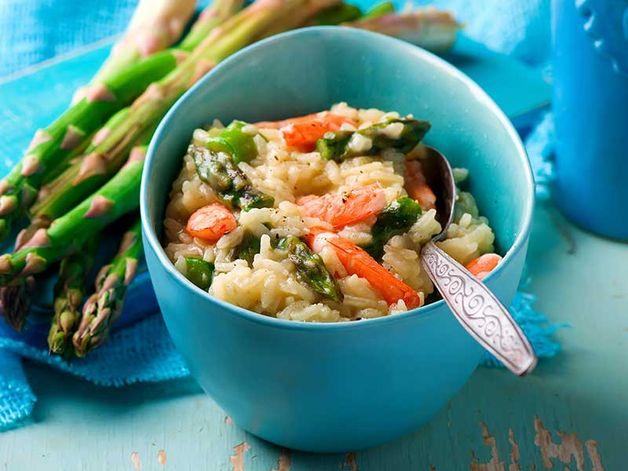 Risotto agli asparagi e ai gamberetti