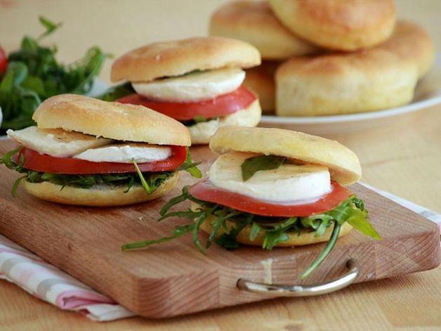 Fresh Mozzarella and Tomato Sandwich