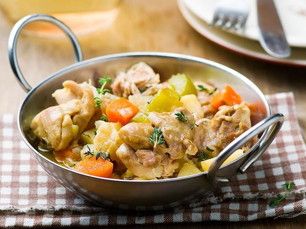 Chicken and Root Vegetable Fricassee