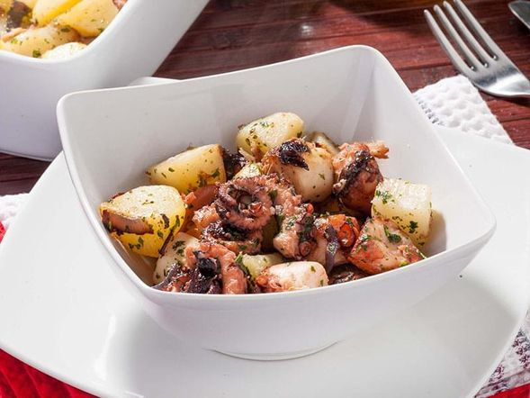 Warm Octopus and Potatoes