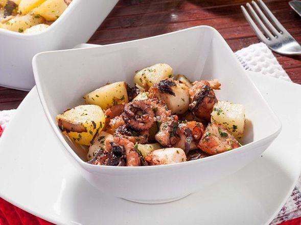 Salade chaude de pieuvre et pommes de terre