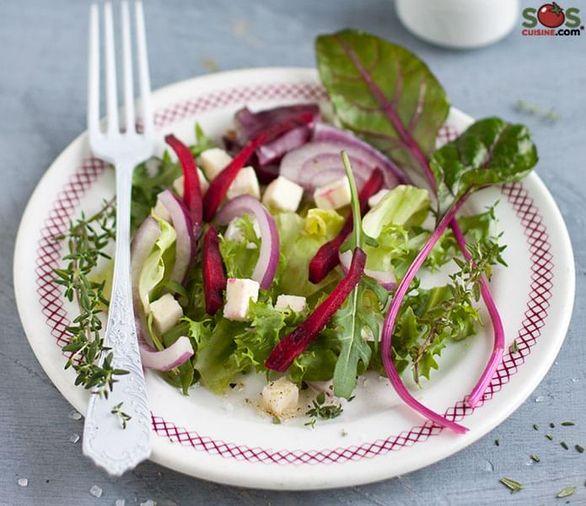Beet Salad on Mixed Greens