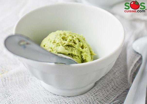 Crème glacée au thé vert