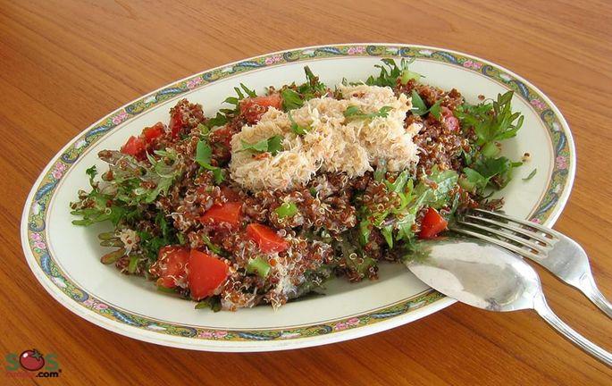 Crab and Red Quinoa Salad