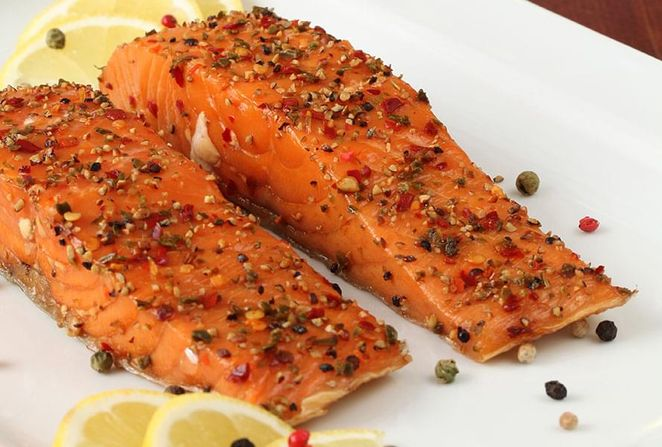 Salmon with Spicy Crust
