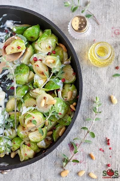 Braised Brussels Sprouts with Marjoram