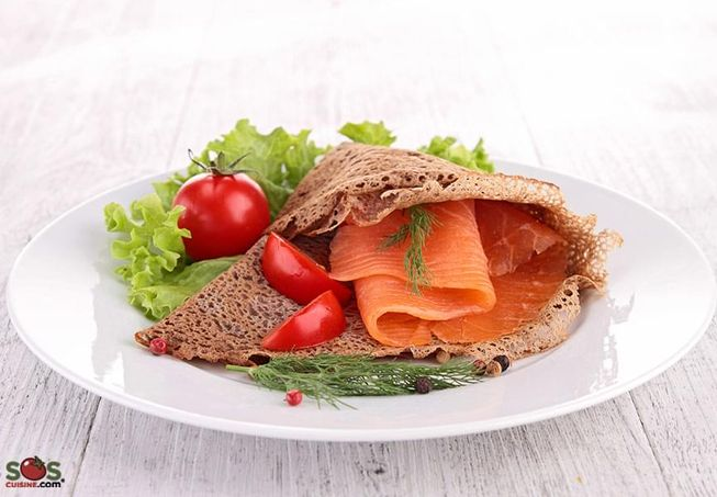 Buckwheat Pancake with Smoked Salmon