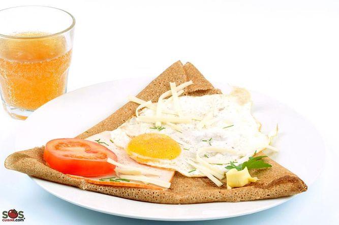 Buckwheat Pancake with Egg
