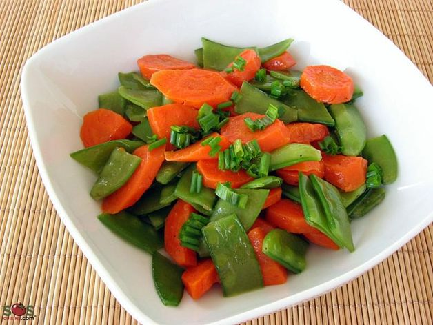Buttered Snow Peas and Carrots