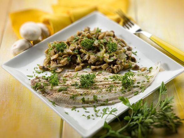 Sole Fillets with Mushrooms