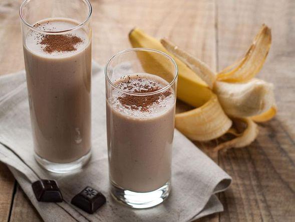 Frullato di banana e caffè