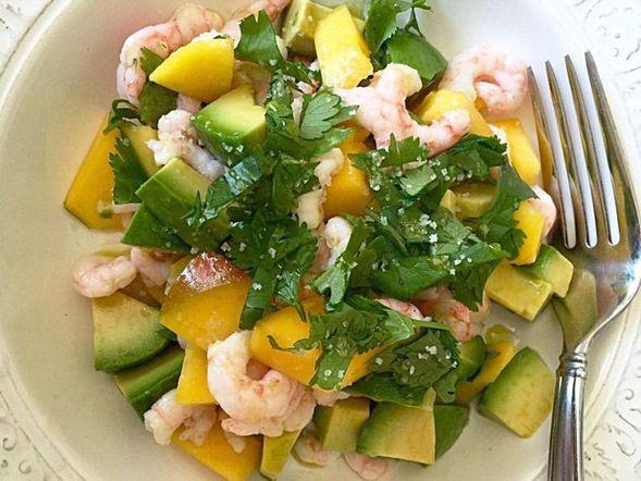 Avocado, Mango and Shrimp Salad