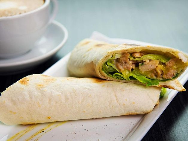 Chicken, Apple and Cheese Wrap