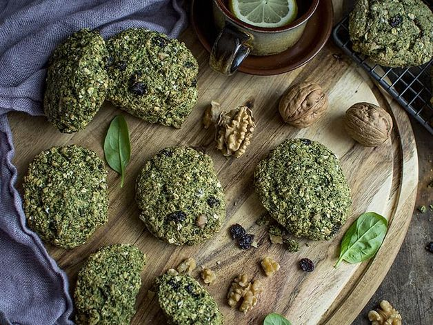 Spinach and Nut Patties