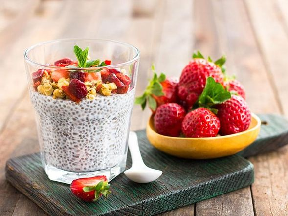 Strawberry and Chia Pudding