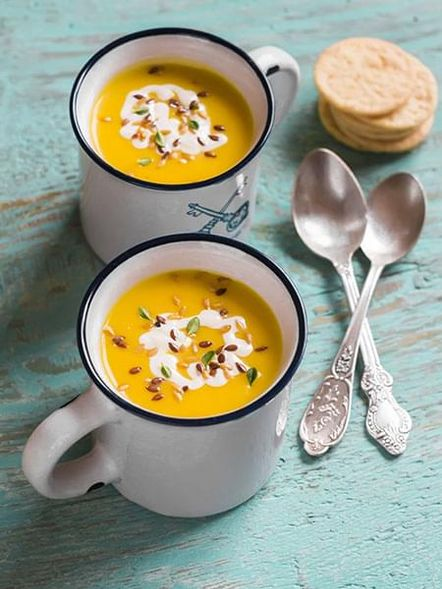 Butternut Squash, Chickpea and Zucchini Soup