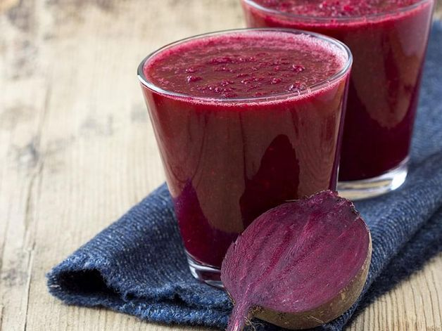 Beet, Blackberry and Apple Purée