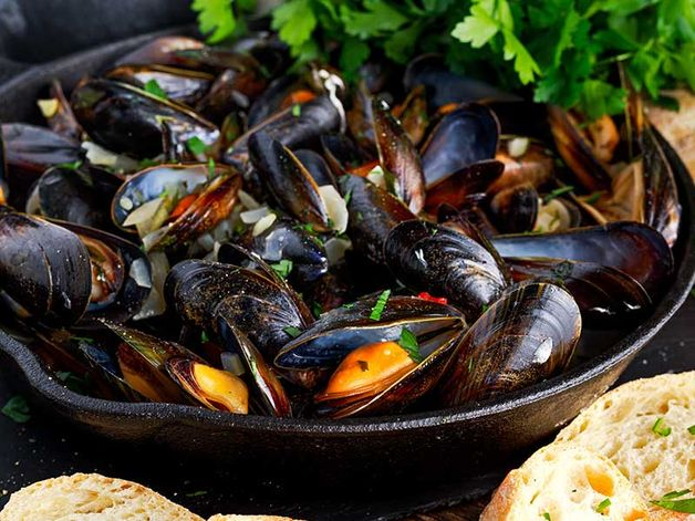 Mussels in Irish Cider