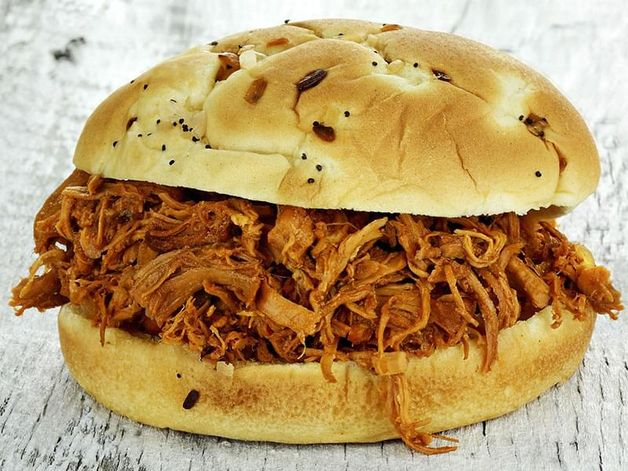 Barbecue Pulled Chicken Sandwich