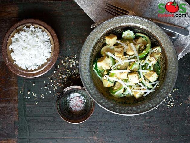 Tofu poêlé à l'indienne