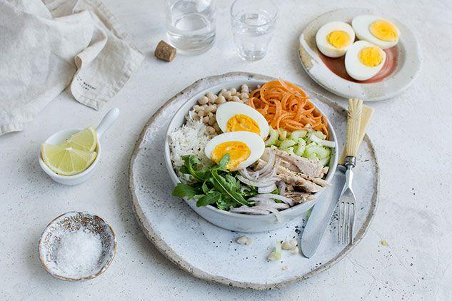 Bol niçois au thon et œuf