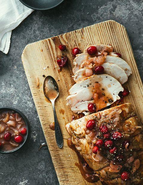 Arrosto di tacchino con cranberry e Porto
