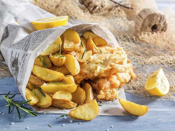 "Oven ""Fried"" Fish and Chips"
