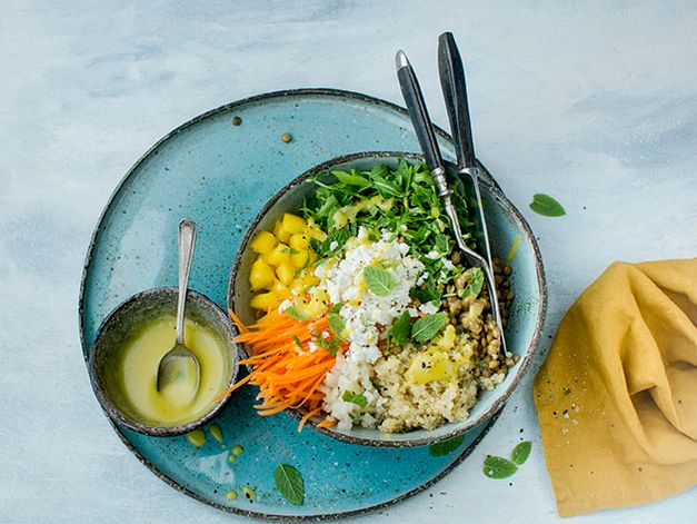 Quinoa and Lentil Bowl