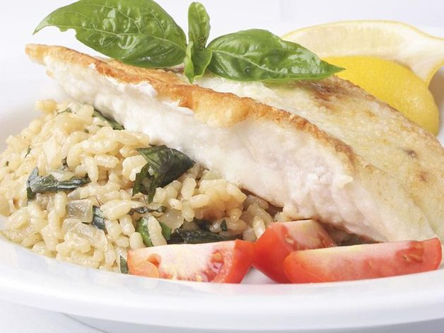 Fish Fillet with Asparagus Risotto