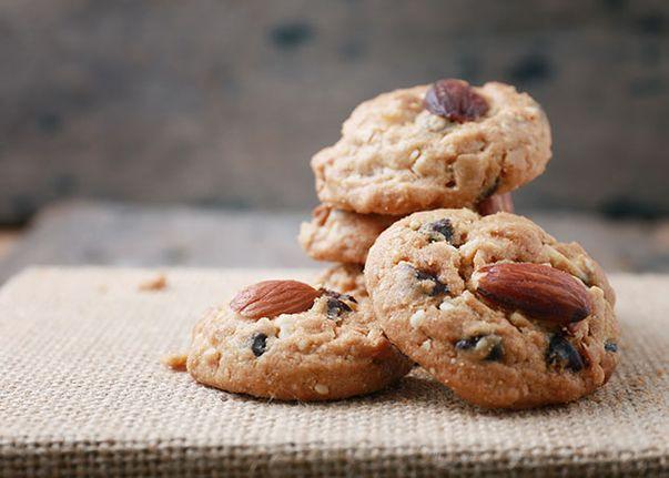 Biscuits aux amandes et chocolat