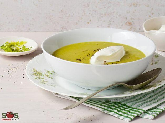 Quick Green Flageolet Bean Soup