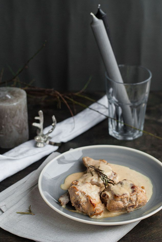 Rabbit in a Creamy Mustard Sauce