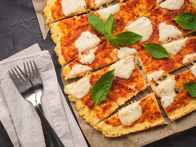 Tomato & Cheese Cauliflower Pizza