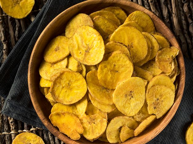 Oven-baked Plantain Chips