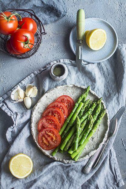Asparagus and Tomato Vinaigrette