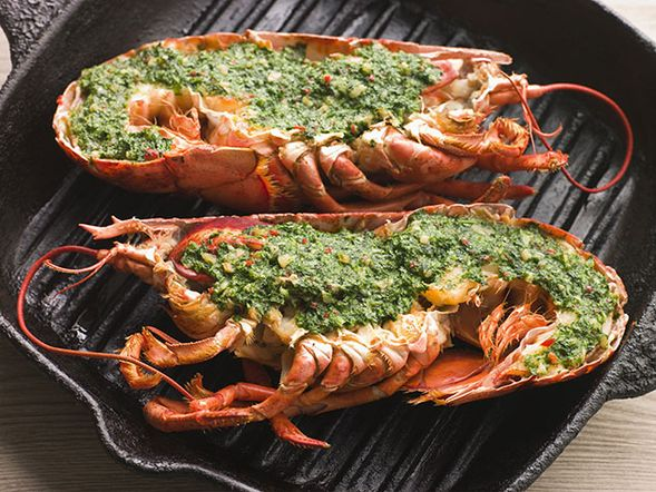 Grilled Lobster with Pesto